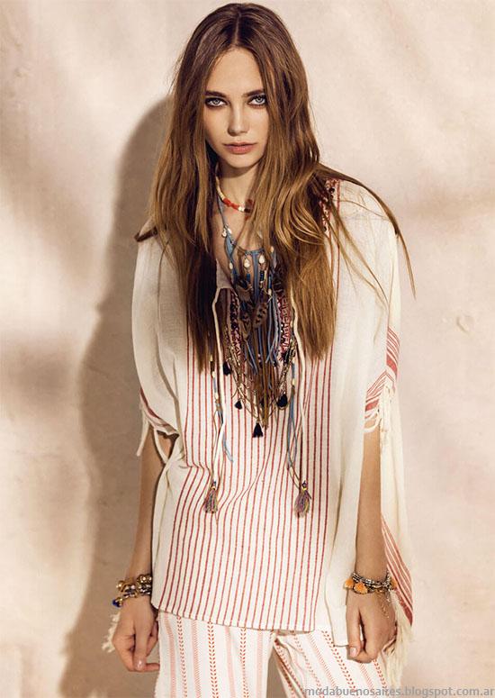 Túnicas y blusas de moda 2016. Rapsodia primavera verano 2016.