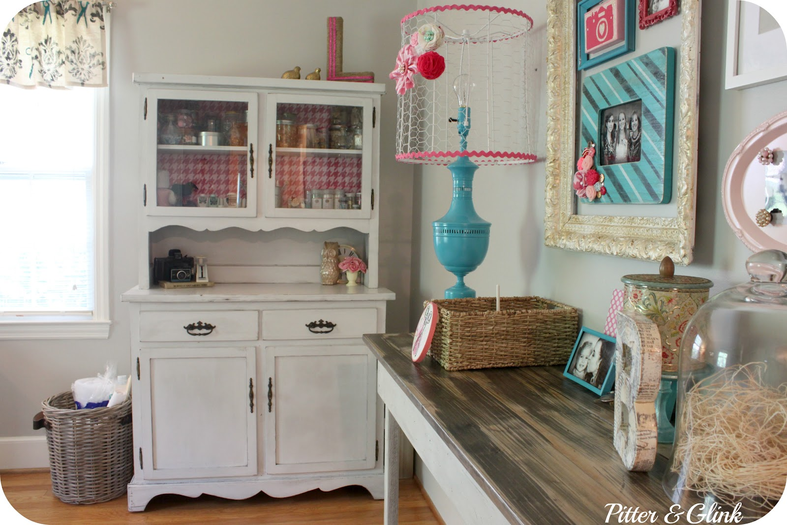 Craftaholics anonymous craft room tour with pitter and for Room organization