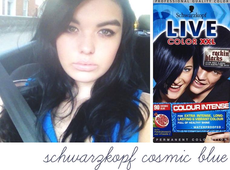 Blue hair dye for dark hair