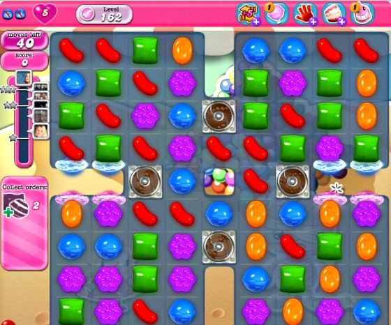 Candy Crush Level 162 Board