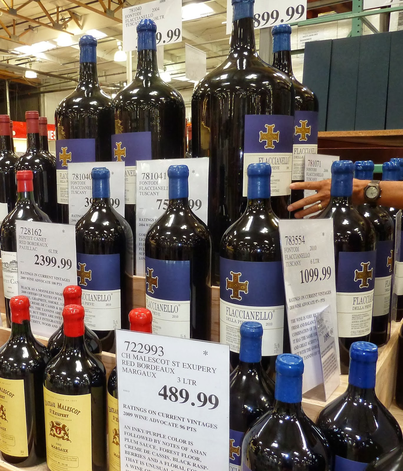 taste of wine tv weekly update big format bottles stand tall at costco. Black Bedroom Furniture Sets. Home Design Ideas