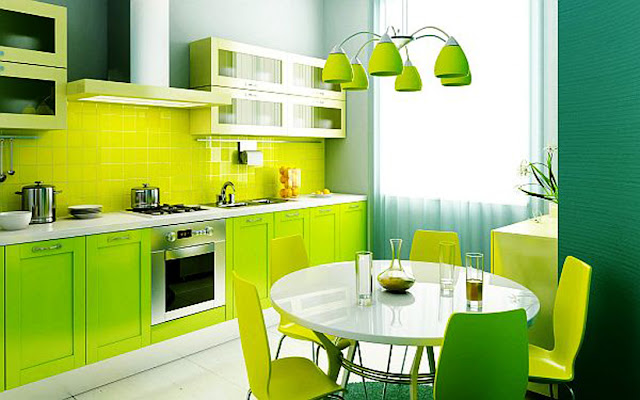 Kitchen Decorating Ideas Green Color Paint