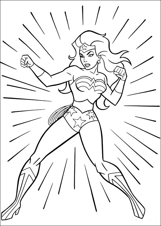 Wonder Woman Coloring Pages on Fun Coloring Pages