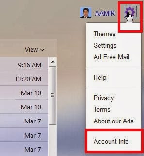 how to send password protected email yahoo