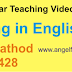 Verbs + ing in English Tenses