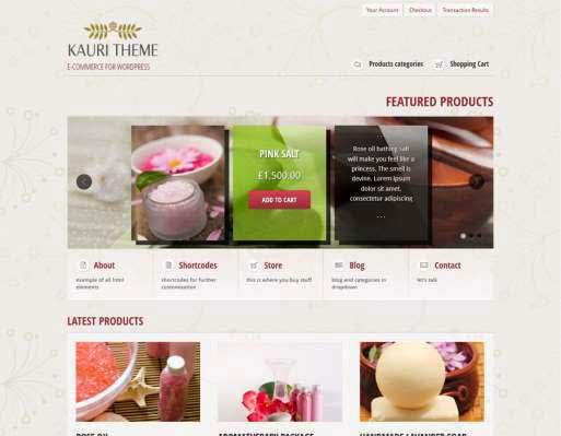 Kauri - responsive theme for WP e-Commerce