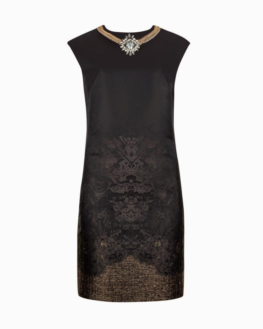 ted baker black necklace dress, ted baker black dress, ted baker party dress,