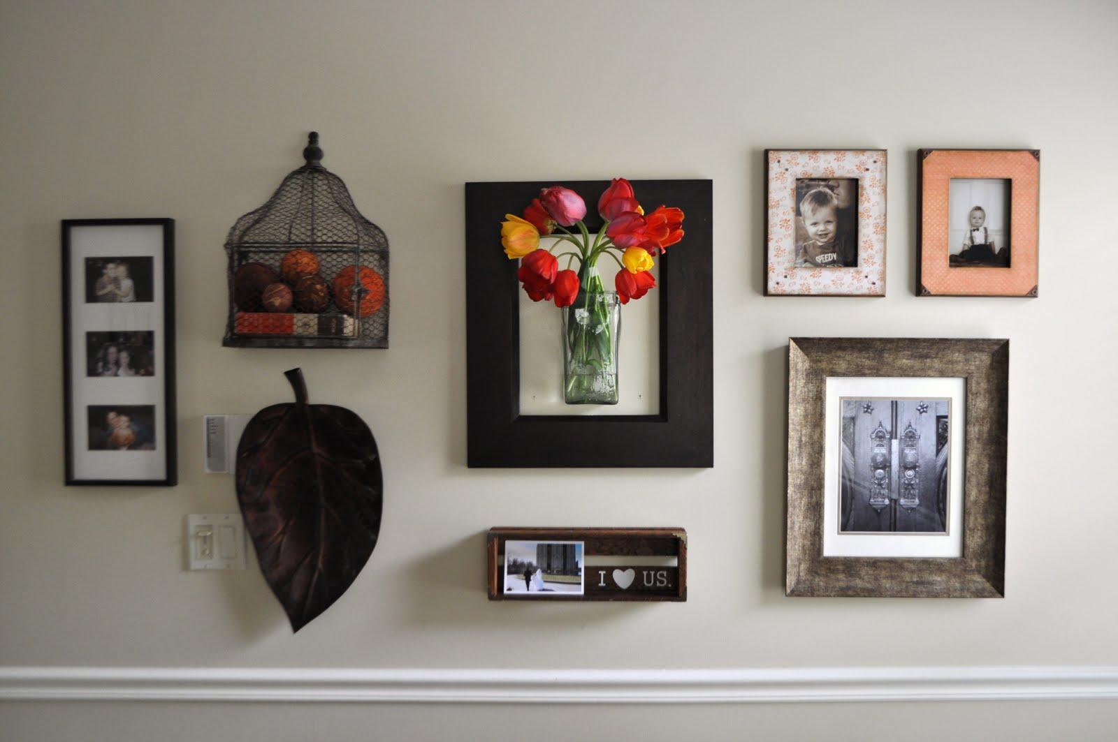gallery wall entryway | Fairly Crafty