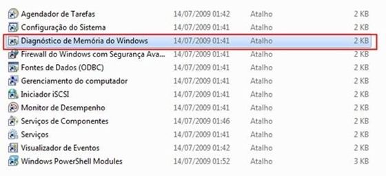 Diagnóstico de Memória do Windows - 560x255