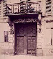 Balcon du 22 quai de Béthune à Paris, photo de Atget 1902
