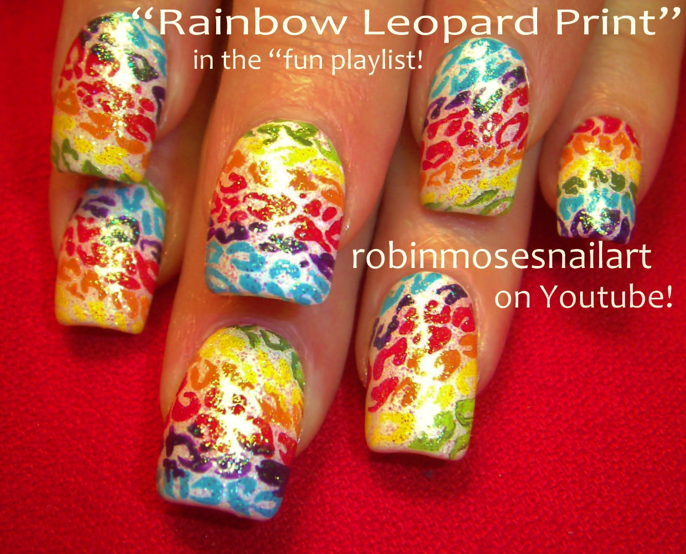 Nail Art Design Rainbow Zebra Nail Art Rainbow Leopard Nail Art