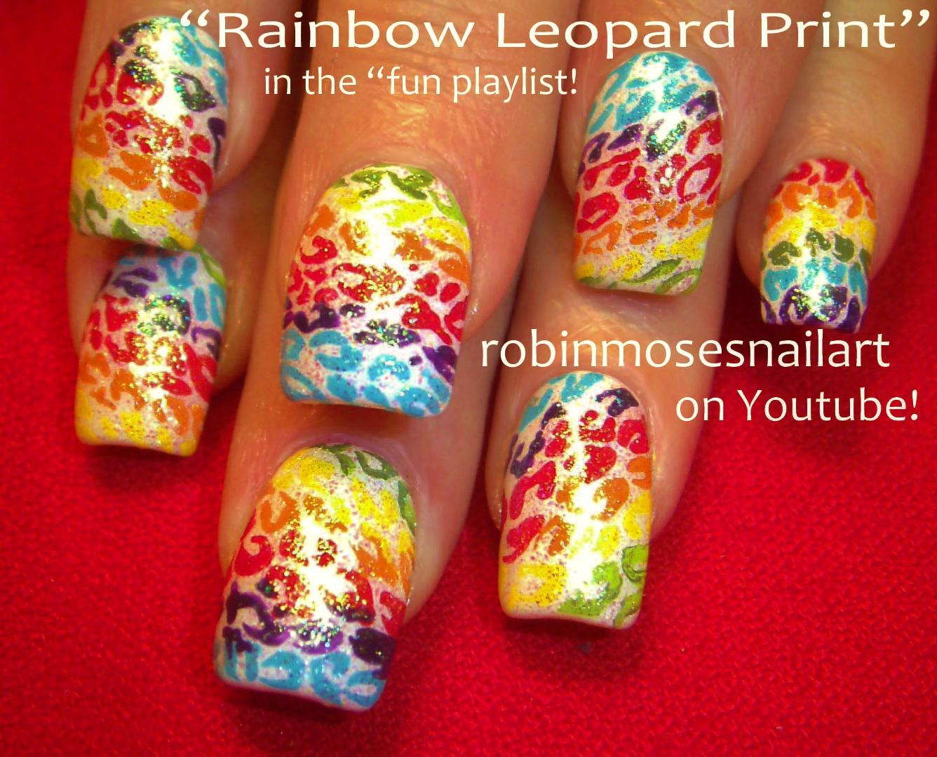 Nail Art Design: rainbow zebra nail art, rainbow leopard nail art ...