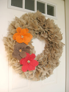 A Fish Who Likes Flowers - Burlap Flower Wreath