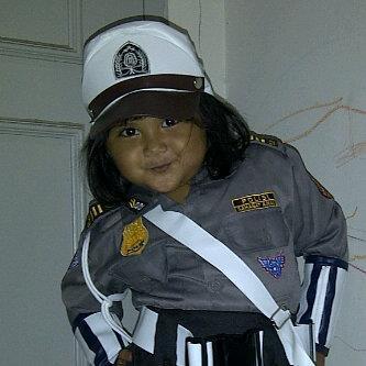 kostum polwan anak