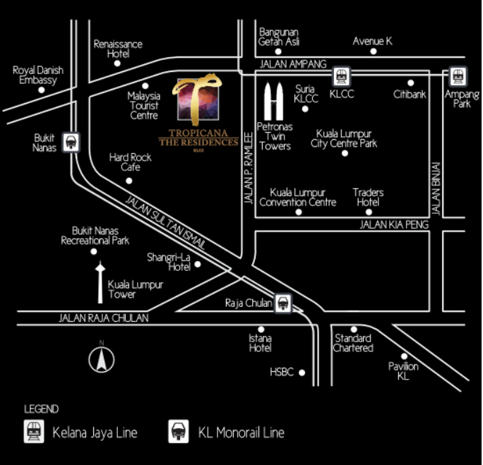 the residences by tropicana location maps