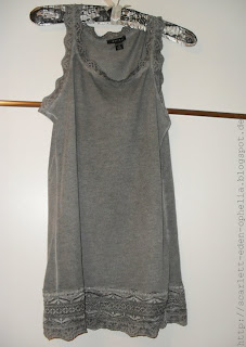 Grey Top with riffles