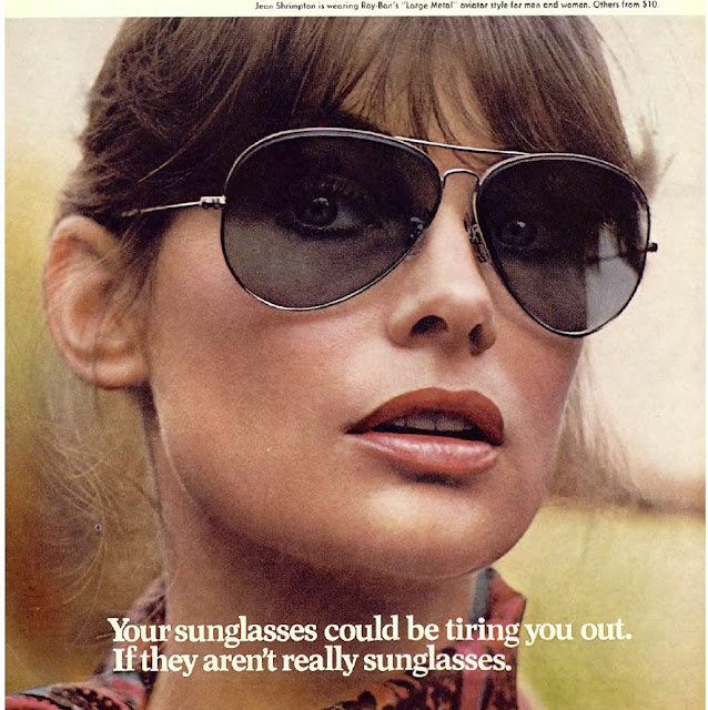 1960s sunglasses advert Jean Shrimpton