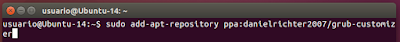 sudo add-apt-repository ppa:danielrichter2007/grub-customizer
