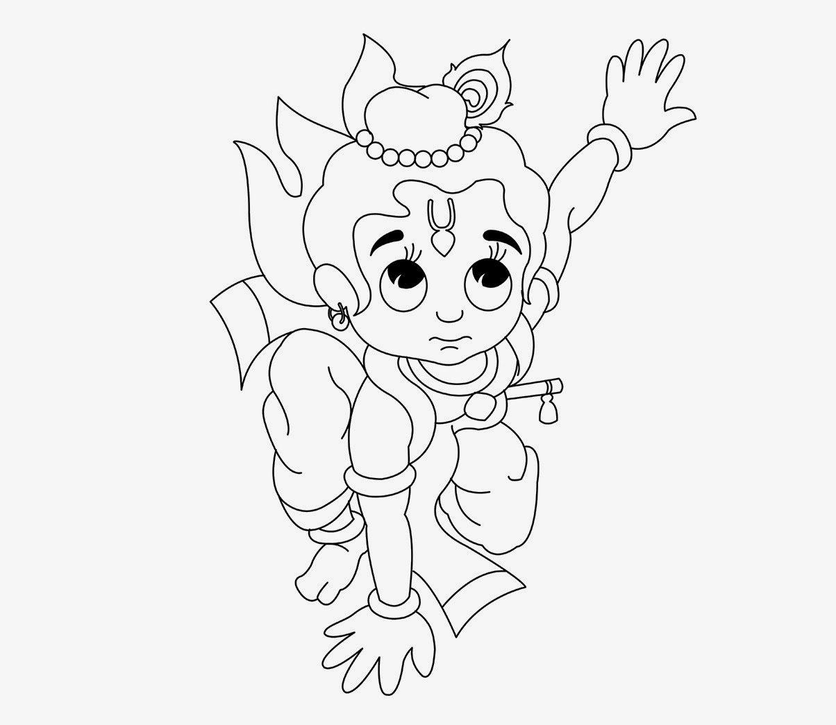Little Krishna Coloring Drawing Free wallpaper
