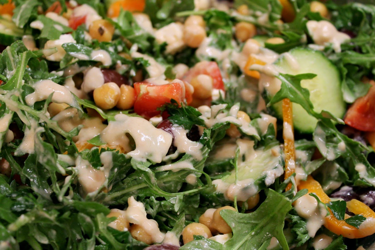 Chickpea Salad with Lemon-Tahini Dressing
