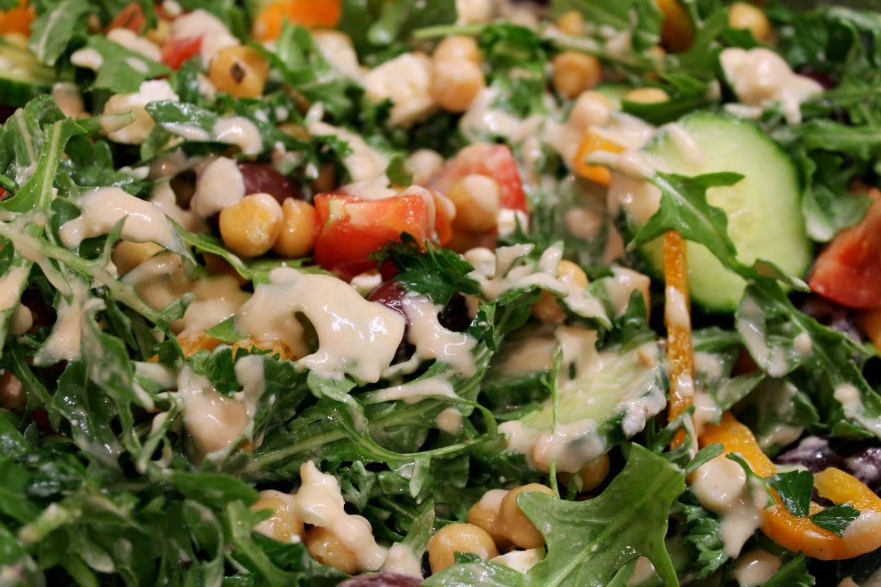 Chickpea Salad with Lemon-Tahini Dressing