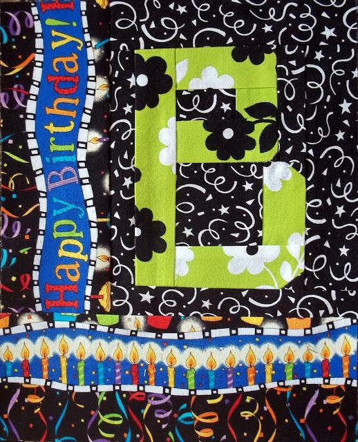 "Kelly Girl Quilts: Birthday ""B"""