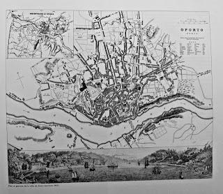 mapa da cidade do Porto em 1855