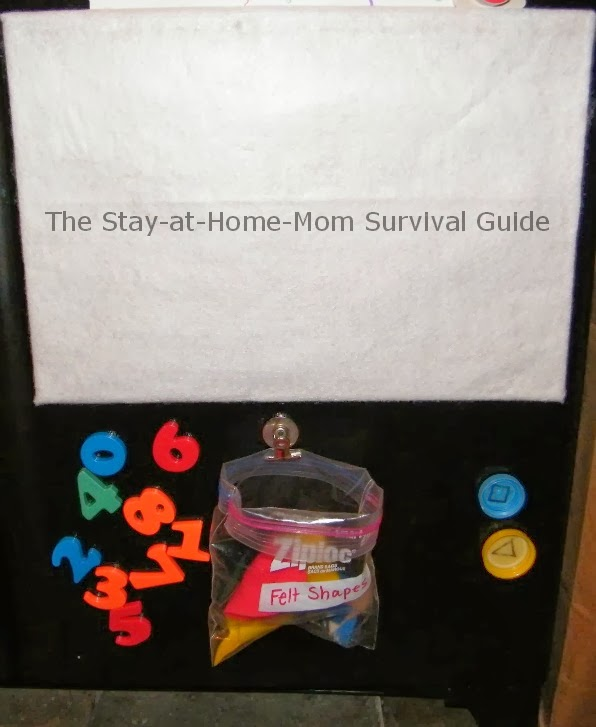 DIY felt board made from a brown paper bag from The Stay-at-Home-Mom Survival Guide