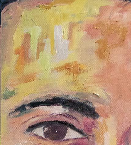 oleo sobre lienzo retrato detalle