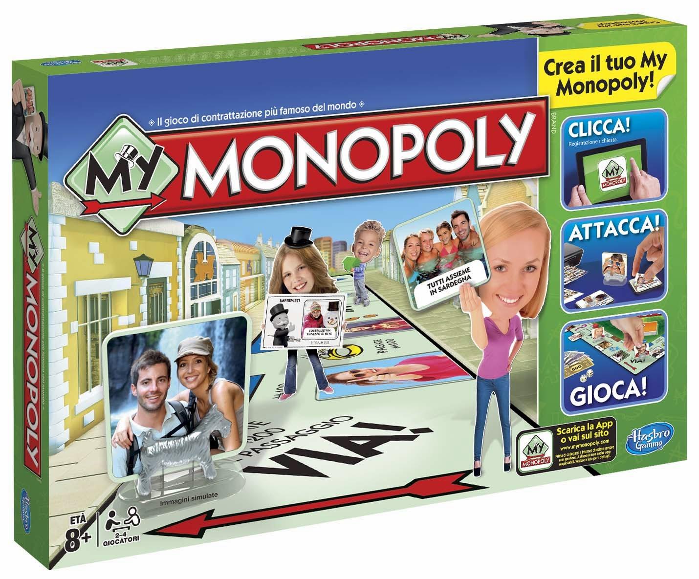 My Monopoli gioco in scatola Novità Hasbro Natale 2014 prezzo di vendita