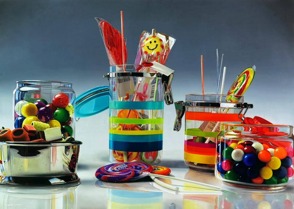 05-Il-Re-Dei-Pagliacci-The-King-of-Clowns-Roberto-Bernardi-Hyper-realistic-Candy-Paintings-www-designstack-co