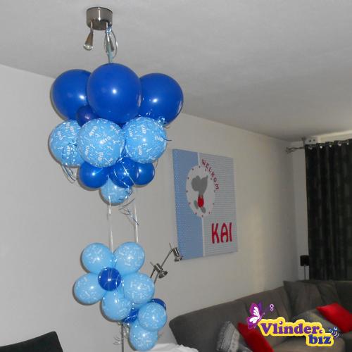 Kai is geboren de versiering for Ballonnen versiering zelf maken