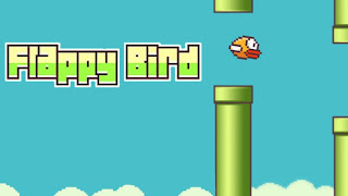 Still shot of the video game Flappy Bird