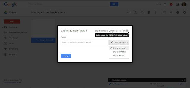 Cara menyimpan dokumen secara online di internet menggunakan Google Drive