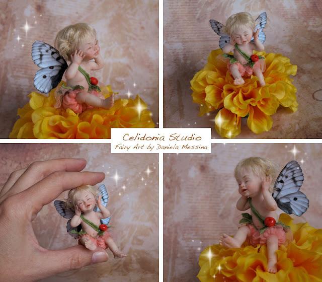 Baby Fairy OOAK in Pasta Polimerica by Celidonia - Daniela Messina