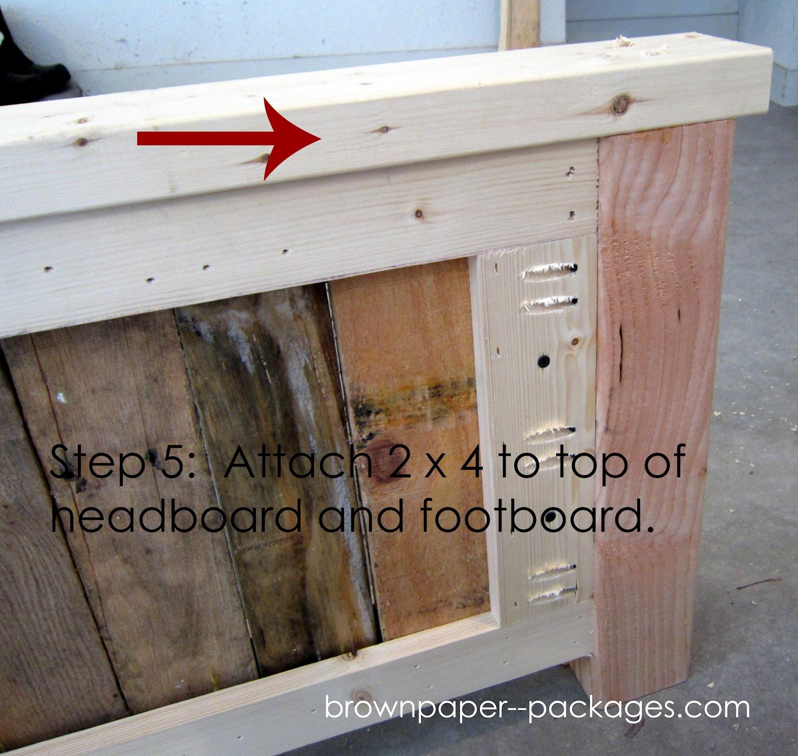 wood pallet bed  simplykierste, Headboard designs