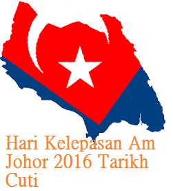 Tarikh Cuti Johor 2016