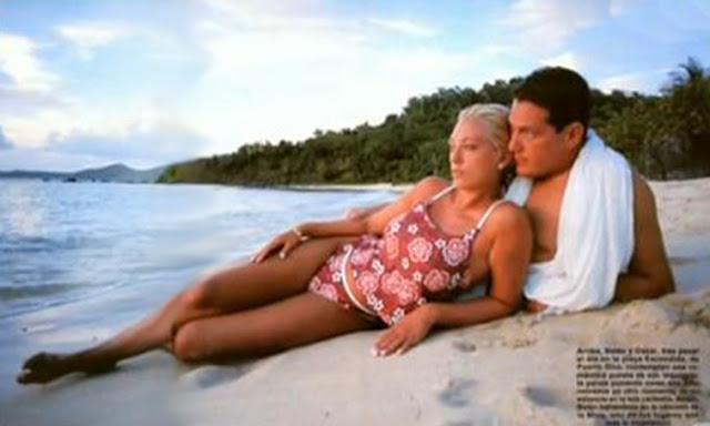 joven belen esteban novio oscar lozano playa hola