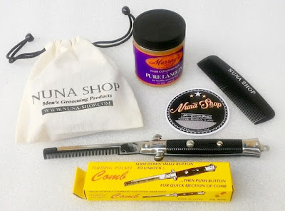 Paket Hemat Pomade Murray's Murray's Hair Conditioner with Pure Lanolin + Switchblade Comb (SB) + Pouch + Stiker + Sisir Saku