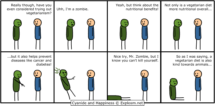 vegan zombie joke