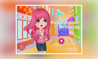 Screenshots of the Pink Fashion Dress Up for Android tablet, phone.