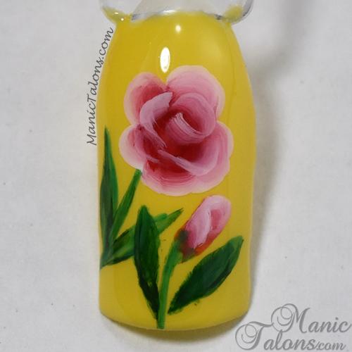 One Stroke Nail Art Roses