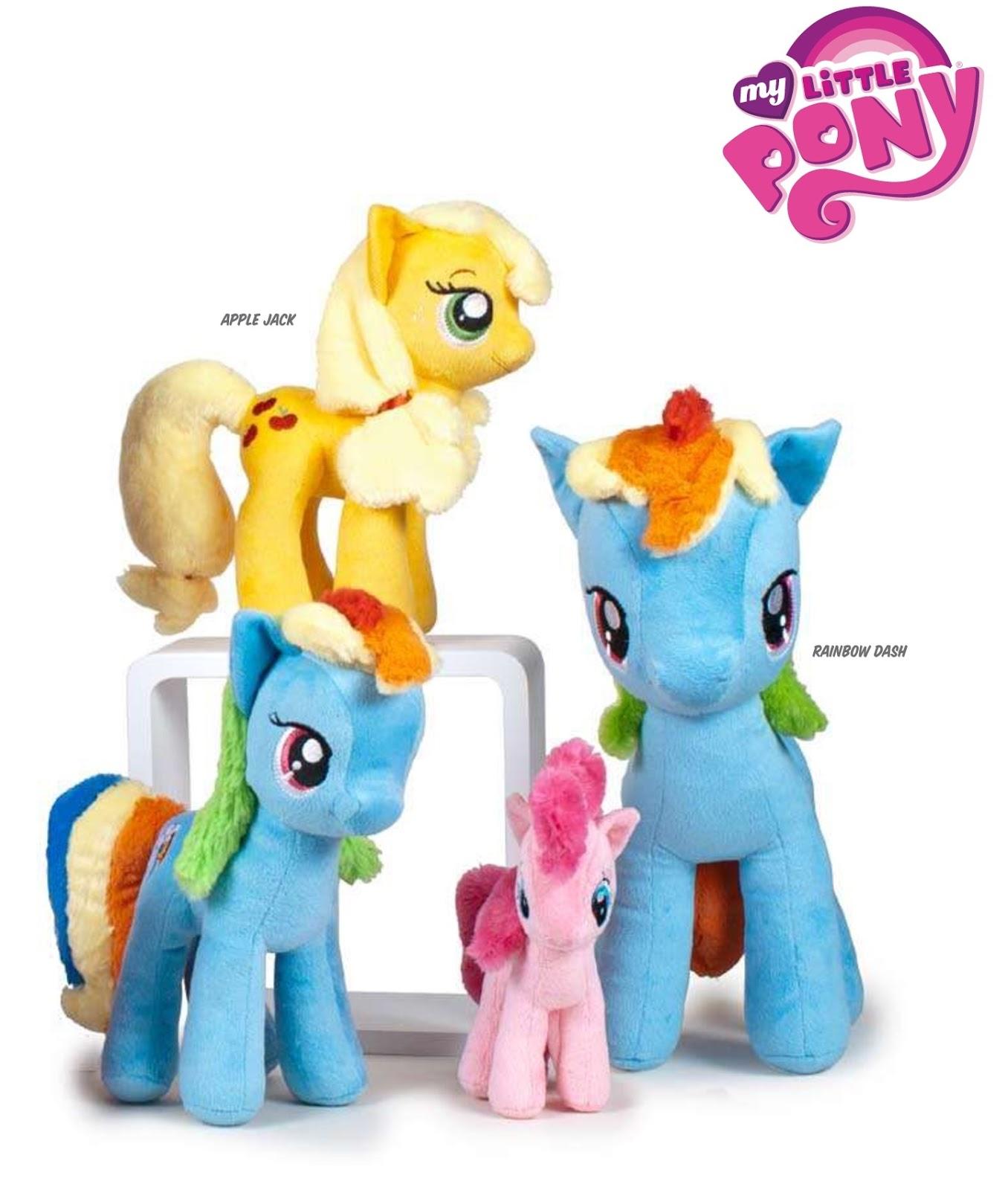 Play by Play Applejack Rainbow Dash Pinkie Pie Plushies