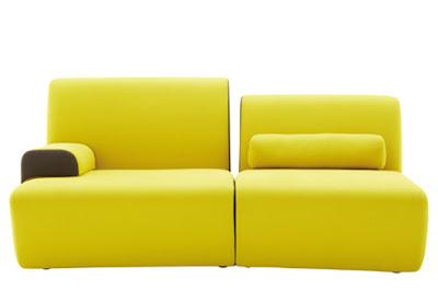 Elegante Sofá de color Amarillo