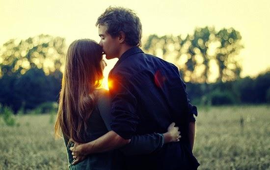 Sunset Hug Couple Love Romantic Feelings