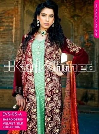 Embroiderd Dresses Red Velvet Silk Long Coat