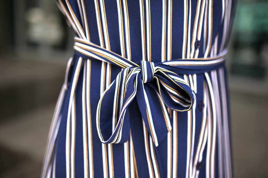 dress bow stripes mbf_dubai my berlin fashion