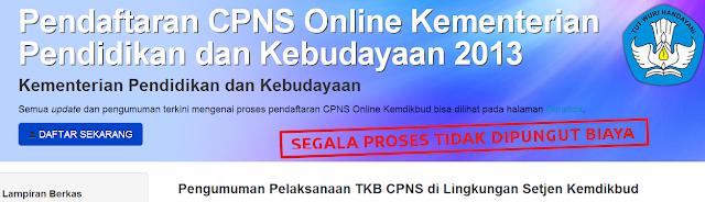 Pengumuman Hasil Tes TKB CPNS Kemendikbud 2013