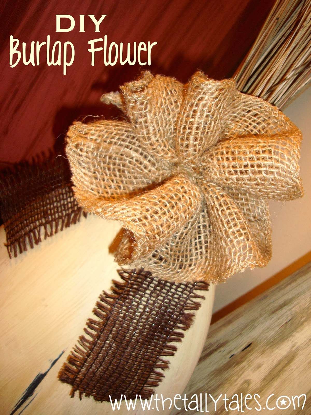 The Tally Tales DIY Burlap Bow Tutorial