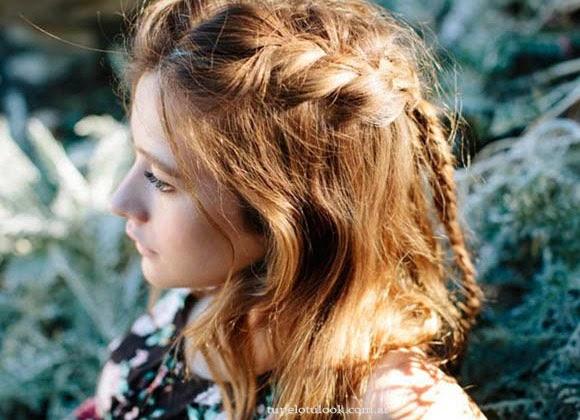 peinados 2014 trenzas sueltas